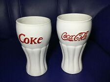 2pcs Coke Coca Cola Ceramic Mugs (Houston Harvest Gift Products) Item# 31380
