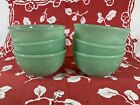 Jadeite Restaurant Ware Rim Bowls (SIX!!) MINT Fire King Round Bottom Bowls RARE