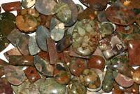 WHOLESALE LOT NATURAL GREEN COLOR RHYOLITE JASPER CABOCHON LOOSE GEMSTONE