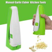 US Garlic Cutter Cube Presser Squeeze Cuber Press Chopper Slicer Vegetable Tool
