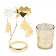 Auto Rotating Spining Tea Light Votive Candle Holder Home Decor- Xmas Tree