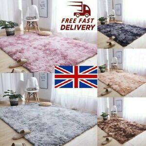 Fluffy Large Rugs Anti-Slip Super Soft Carpet Mat Floor Living Room Bedroom Rugs