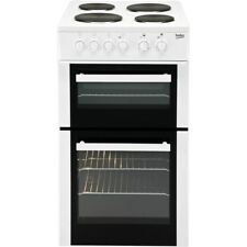 Beko BD533AW 50cm Freestanding Single Oven Electric Solid Plate Cooker - White