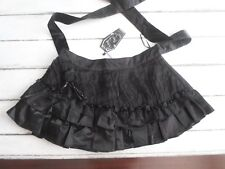 Living Dead Souls Black Gothic Floral Ruffle Skirt Pin Up Rockabilly NWT'S