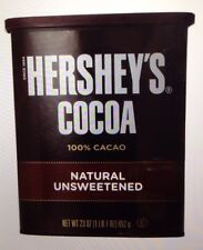 Hersheys Unsweetened Cocoa Chocolate baking powder 23 oz can 100% cacao cake