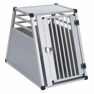 Dog Transport Crate Car Vehicle Light Aluminium Waterproof Lockable Doors Safe