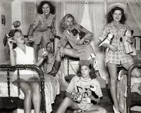 Vintage 1944 Photo - Tri-Delta Sorority Party Girls Texas Univ. Smoking Drinking