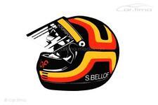 Aufkleber / Sticker - Stefan Bellof Helm - 8 cm