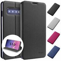 Flip Case Samsung S10 Magnet Cover Aufstellbar Ständer Schutz Hülle Schale Folie