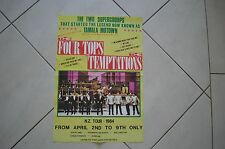 THE FOUR TOPS AND THE TEMPTATIONS RARE ORIGINAL 1984 NEW ZEALAND TOUR POSTER!