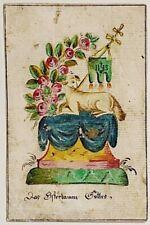 Andachtsbild Das Osterlamm Gottes 18 . Jh. Gemalt Heiligenbild Wallfahrt (U-9293