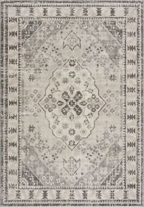 Small Large Cheap Rug Living Room Soft Dense Pile Traditional Design Grey New