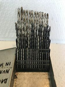 Huot Drill Index HSS 60 Piece Numbers 1/2 Are New USA Bits