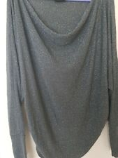 Ladies Dreams Top Grey With Shiny Sparkles  UK Size L.