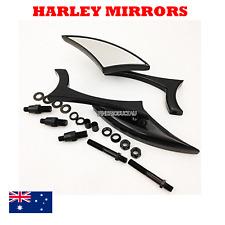 Black Spear rear view side Mirrors Harley Davidson Dyna Glide Fat Bob Street Bob