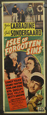 ISLE OF FORGOTTEN SINS 1943 ORIG 14X36 MOVIE POSTER JOHN CARRADINE SIDNEY TOLER