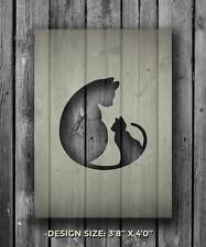 A5 Cat Kitten Mylar Reusable Stencil Airbrush Painting Art Craft DIY Home Decor