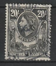 1955 Northern Rhodesia Bft:24 20/- Black.Very Fine Used Revenue.