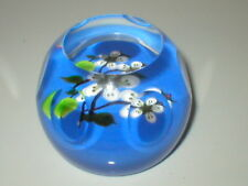 CAITHNESS PAPERWEIGHT WHITEFRIARS Apple Blossom Facette Coupé Papier Poids 41/250