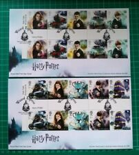 2018 Harry Potter Gutter Pairs pair of FDC Wizard Express postmark