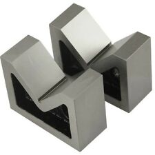"CAST IRON VEE BLOCK 4"" V BLOCK SET OF 2 Pcs (WITHOUT CLAMP)"
