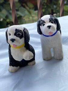 Barbie Pet Shop Dog, White, and Black Puppy, St.Bernard Fuzzy