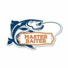 Master Fish Baiter Sticker Decal Funny Sport Game Hobby
