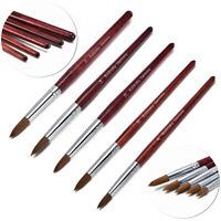 Newly Natural Kolinsky Acrylic Nail Art Brush Manicure Powder Wood Handle Tool
