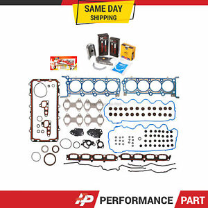 Full Gasket Set Bearings Rings for 04-06 Ford F150 F250 5.4 TRITON 3-Valve