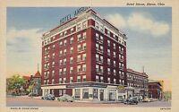 Hotel Akron Akron Ohio Linen Postcard Citizens Savings & Loan