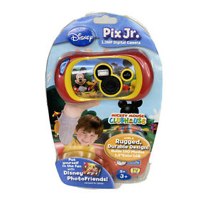 Disney Pix Jr Digital Camera Mickey Mouse Clubhouse Durable Rugged Kids Toy NEW