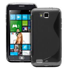 Fosmon S Line Wave TPU Gel Protector Case Cover for Samsung ATIV S I8750 - Black