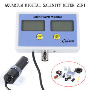 Digital Salinity&PH Meter Salinity&PH Monitor Tester for Aquarium Free Shipping