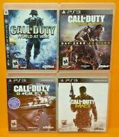 COD Call of Duty Ghosts, World War, Warfare 3 - PS3 Sony Playstation 3 GAME Lot
