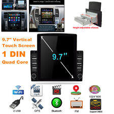 "9.7"" Vertical Touch Screen 1DIN Android Car Stereo FM GPS Navigation WIFI Player"