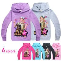 JoJo Siwa Kids Hooded Jumper Girls SweatShirt Hoodie Long Sleeve Top Clothes