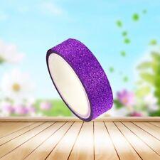 3m Craft Glitter Washi Tape Book Decoration DIY Adhesive Paper Scrapbook Sticker Dark Purple
