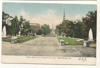 View West from Capitol HARRISBURG PA UDB Pennsylvania Dauphin County Postcard