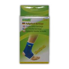 Care4You Fußgelenk Bandage Schoner elastisch Universal Blau 2 Stück