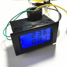 D85-2042A AC 80/ 300V 100A Dual Display LED Volt Amp Meter+Current Transformer