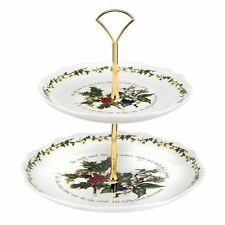 PORTMEIRION THR HOLLY AND THE IVY FLUTED CAKE STAND