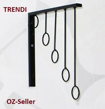 6 Metal 5 ring wall mount Clothing Hanger for Garment Scarf handbag shop Display