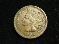 MARKED DOWN!!  AU 1896 INDIAN HEAD CENT PENNY w/ FULL LIBERTY & DIAMONDS #59i