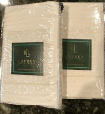 2 New Ralph Lauren 52nd Street Jacquard Cream Standard Shams Orig 220.00
