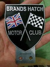 VINTAGE Car Mascot Badge Brands Hatch Motor Club BHMC CLASSIC circuit indy kent