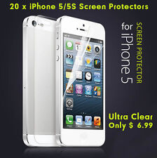 10x Front & Back Ultra Clear LCD Screen Protector Set Film for Apple iPhone 5 5S