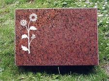 Grabstein ,Liegestein aus Vanga Granit in 40 x 30 x 3cm