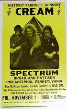 Cream 1968 Farewell Concert Poster - Eric Clapton, Jack Bruce, & Ginger Baker