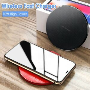 Qi Wireless Charger for iPhone and Samsung Fast Charging Pad Matte Black USB
