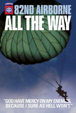 82nd AIRBORNE ALL THE WAY Paratrooper Poster (General George S. Patton Quote)